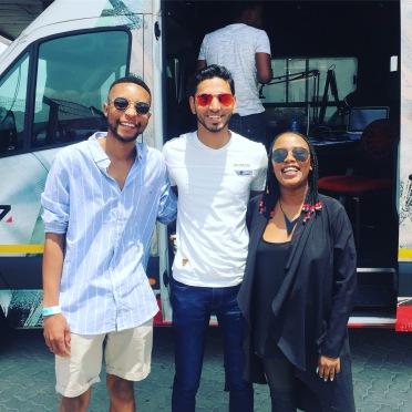 Ahmed Kajee with Zweli and Mantsoe